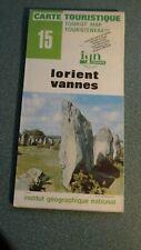 Carte Touristique Map Lorient & Vannes France No. 15
