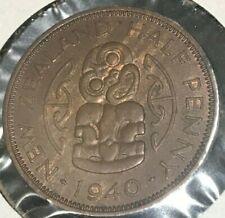 1940 New Zealand 1/2 Penny