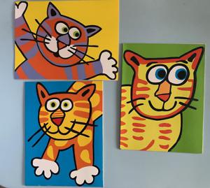 Fat cat 12 Dee-Signer Blank  Kitty Cards (3 Designs) Blank Inside w/Envelope