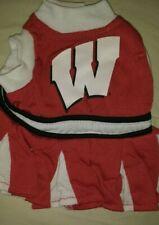 Wisconsin Badgers Dog Cheerleader Dress - medium - Collegiate Official - NWT