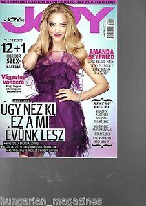 Joy Ungarn / Hungary Hungarian Magazine 2016/01 - Amanda Seyfried - Cover
