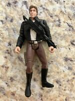"""Star Wars POTF2 3.75"""" Bespin Han Solo with Rifle 1997 Kenner"""