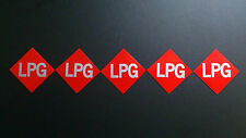 5 X LPG LABEL STICKERS UNIVERSAL REFLECTIVE GAS