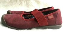 KEEN Women's Sienna Red Dahlia Canvas Mary Jane Shoes Sz 8 W