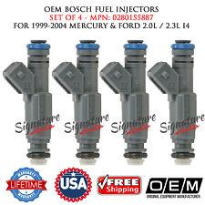 4PCS OEM BOSCH Fuel Injectors for 1999-2004 MERCURY&FORD 2.0L/2.3L I4#0280155887