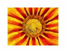 Nature Painting Flower Stamen Red Yellow Canvas Print