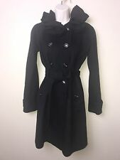 New! Rebecca Taylor Wool Trench Coat Black SZ 2 $595