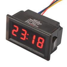 4-bit Rot Wasserdicht Clock Auto KFZ LED Digital Borduhr Uhr Datum Timer MA1223