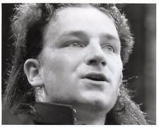 BONO PHOTO LIVE AID 1985 UNIQUE IMAGE UNRELEASED HUGE 12 INCH B&WHITE EXCLUSIVE