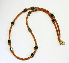 MANDARINA GRANATE Labradorita Cadena de piedra preciosa Disigner cadena