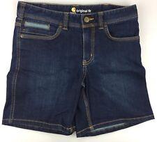 """Women's 8 Carhartt Original Fit Blue Jeans Shorts Dark Wash 7"""" Inseam Denim"""