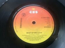 1970s Disco Music Vinyl 45 Sngle Best of my Love by Emotions S CBS 5555