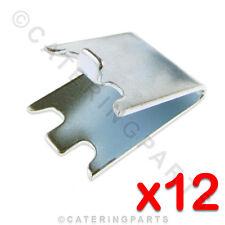 PACK OF 12 x 30mm SHELF SUPPORT PILASTER CLIPS FOR FRIDGE FREEZER SHELVING
