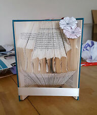 Book Folded Art, Word Mum with Vase. Special Gift, Birthday Present, Mothers Day
