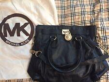Michael Kors Large Hamilton in Soft Black Leather