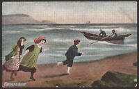 """""""Father's Boat"""" Artistic Postcard by J.W.B. London. Commercial Series Card #318"""