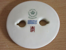 Mid Century Royal Copenhagen Anton Michelsen Porcelain Disc to Sterling Bracelet