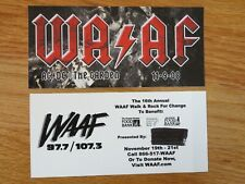 """WAAF 107.3 The Garden 11-9-2008 AC DC Concert Tour 6.5"""" Sticker ANGUS YOUNG"""