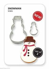 PME Set of Snowman Christmas Cutters cookies & cake decorating Fast Despatch