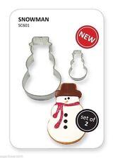 PME juego de muñeco de nieve Navidad Cortadores Galletas & Pastel Decoración Envío Rápido