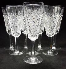 "WATERFORD CRYSTAL 8 Alana Diamond Pattern Champaign Flutes Wine Glass Hock 7.25"""