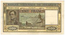 Billet Belgique 100 francs 1949 TTB+ Belgie frank