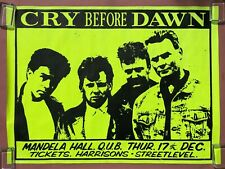 CRY BEFORE DAWN Mandela Hall BELFAST Queen's Uni 1987 CONCERT POSTER VG+ Celtic