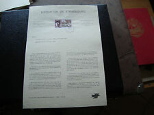 FRANCE - document 25/11/1969 (liberation de strasbourg) french