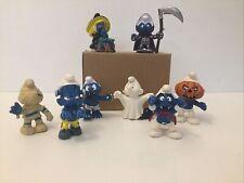 Halloween Smurfs Set Witch Pumpkin Vamp Frankenstein Ghost Mummy Classic Vintage