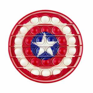 Captain America's Shield Push Pop for it Bubble Fidget Toy Stress Relief New