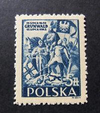 "POLONIA,POLAND,POLSKA, 1945 "" Anniversario Battaglia di Grunwald"" 1V.cpl set MH"