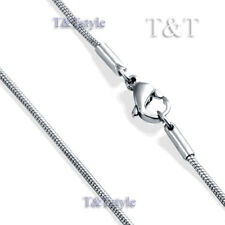 Unique T&T 1.5mm Stainless Steel Round Snake Chain Necklace (C163)