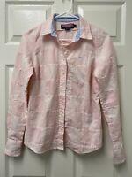 Vineyard Vines Women's Patchwork Plaid Pink 100% Cotton Shirt Button Down Size 2