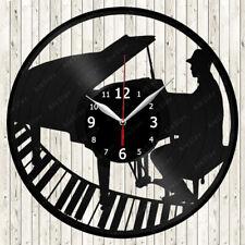 Piano Vinyl Record Wall Clock Decor Handmade 2058