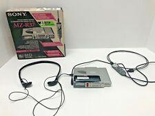 Vtg Sony Md Walkman Mz-R37 MiniDisc Play/Rec With Remote, Disk, Headphones, Box