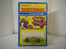"Matchbox No: 45 ""Ford Group Six"" - Green (RARE U.S. BLISTER PACK/Original 1971)"