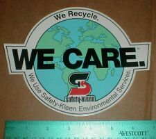 "Safety Kleen environmental We Care NASCAR racing 7.5"" contingency sticker decal"