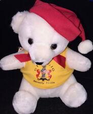 "Giorgio Armani Beverly Hills 1986 Christmas 8"" White Teddy Bear Plush Prototype!"