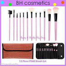 ❤️⭐NEW BH Cosmetics 😍🔥👍 PINK Brush Set 🎨💋12-Piece w/Case💎Face & Eye Shadow