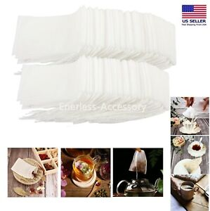 USA Empty Teabags String Heat Seal Filter Loose Spice Herb Powder Bags Wholesale