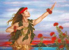 4 Greeting Cards Hawaiian Happy Birthday Ohia & Lehua by Lori Higgins