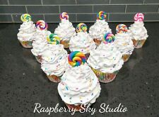New Fake Faux Lollipop Cupcake with Sprinkles Photo Prop Decorative Food