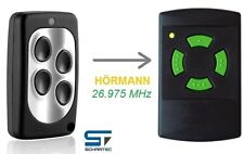 Handsender für Hörmann 26,975 MHz HSM 4 HS 4 Funk-Sender Toröffner Garagentor 27