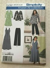 Simplicity Khaliah Ali Collection Dress, Pants pattern #2232 Size 20W-28W UNCUT