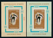 [19619] Haiti 1968 Olympic Games Grenoble pair of VF S/S perf imperf MNH
