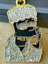 Bart Simpson Chain Necklace Pendant Iced Out Hip Hop Bling