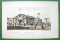 PHILADELPHIA Exhibition France French Building - 1876 Original Lithograph Print
