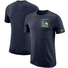 new Nike Seattle Seahawks Heathered navy Marled historic logo T-shirt mens XXL