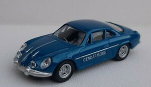 Norev 3 inches  1/60. Alpine Renault A 110 Gendarmerie.  Neuf en boite