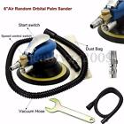 6'' 150mm Air Random Orbital Palm Sander Auto Body Orbit DA Sanding + Hose + bag